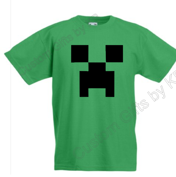 Minecraft t shirt custom gifts by kb for Custom t shirts personalized gifts