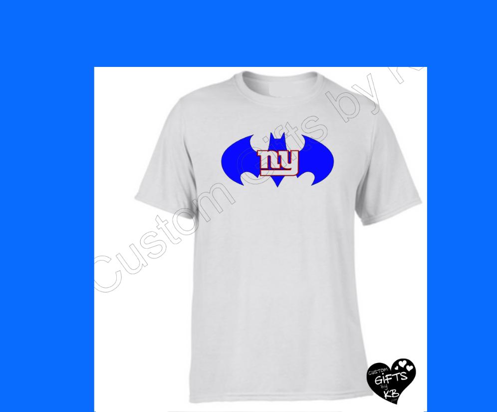 Batman ny giants t shirt custom gifts by kb llc for Custom t shirts personalized gifts