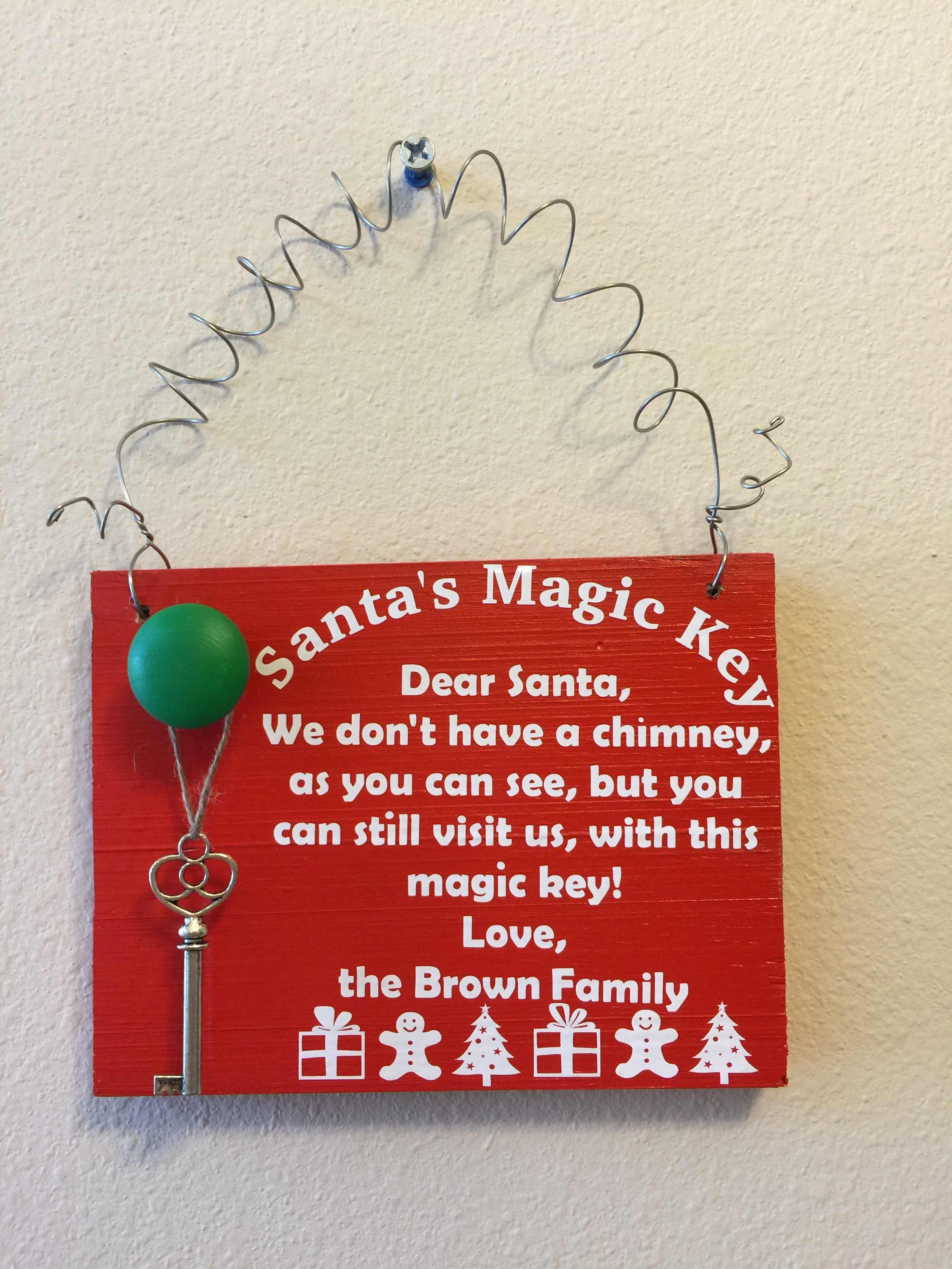 Santas magic key with quote and name custom gifts by kb llc m4hsunfo